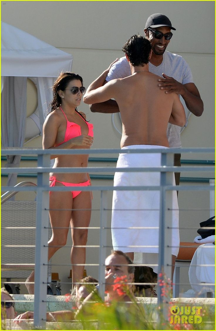 Eva Longoria & Serena Williams Hang Out in Bright Bikinis in Miami
