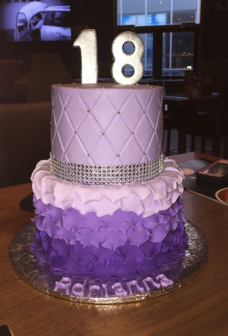 18th Birthday Cake With Quilted Buttercream And Ombr 233