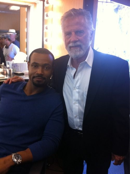 Old Spice Guy (Isaiah Mustafa) & The Most Interesting Man in the World (Jonathan Goldsmith)