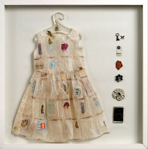 The lovely Jennifer Collier paper dresses and shoes