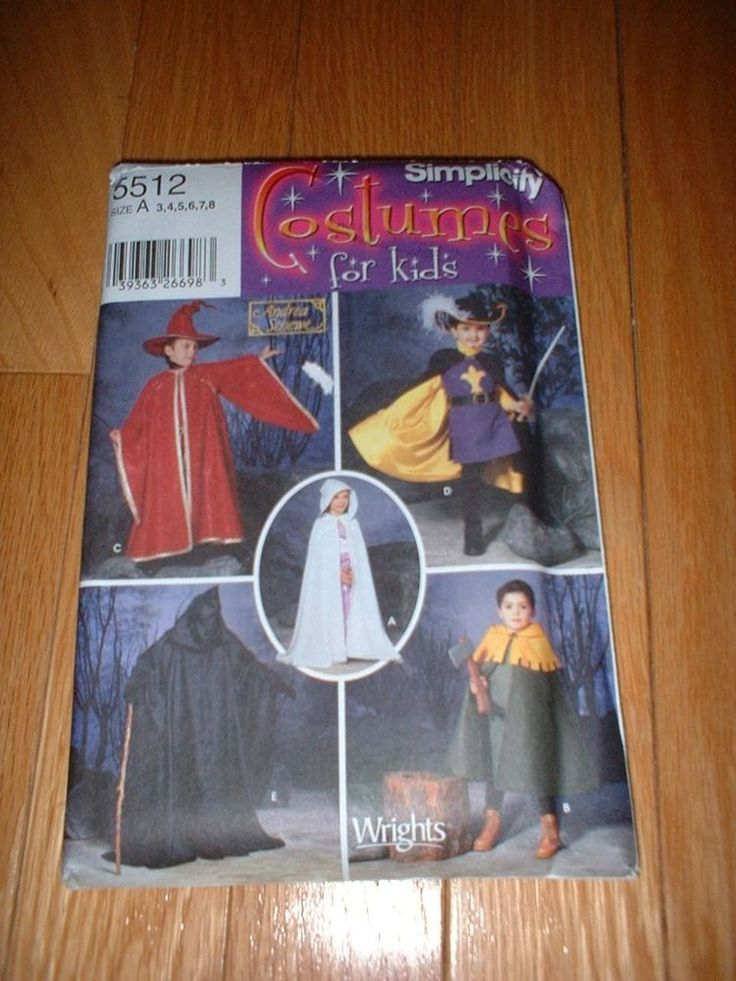 SIMPLICITY PATTERN 5512 ~ CHILD CAPES REAPER MUSKETEER + COSTUMES ~ SZ 3-8 ~ NEW #simplicity