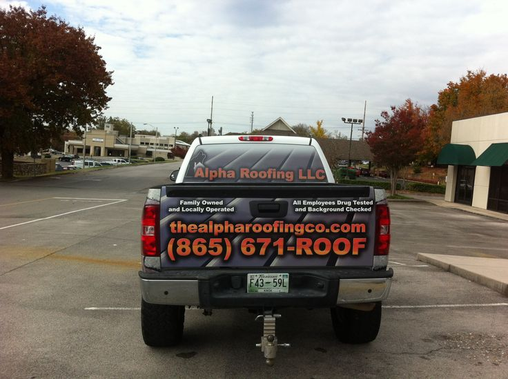 Alpha Roofing Vehicle Wrap 5   Knoxville, TN #vehiclegraphics #vehiclewraps  | Printedge Vehicle Graphics   Knoxville, TN | Pinterest
