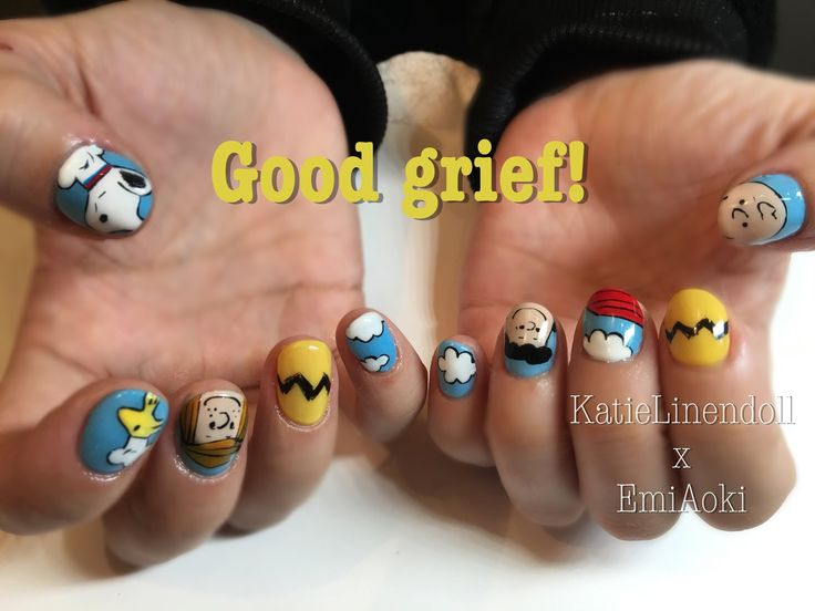 45 best geek nail art images on pinterest cartoons costumes and peanuts nail art prinsesfo Gallery