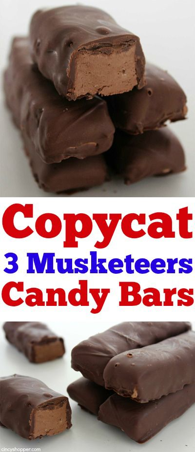 Copycat 3 Musketeers Candy Bars- Super simple and only requires 2 ingredients. Yes... they taste just like the real thing.