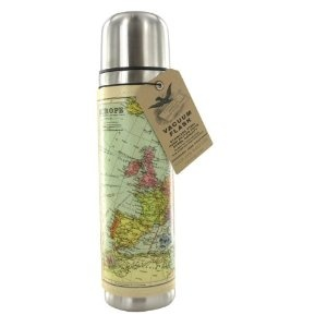 Vintage Map Flask by Wild & Wolf