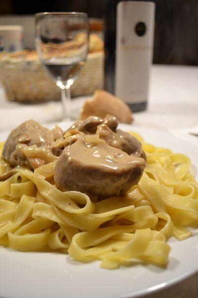 filet mignon de porc & champignons de paris