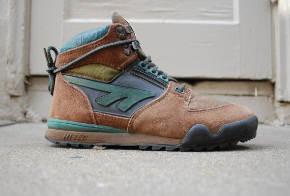 Vintage Mens 7.5 Hi Tec Mt. Whitney Airball Concept Hiking Boots Boot Hiker Hipster Rugged Outdoor Alpine Trail Mountaineering Peak Sneakers