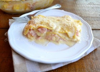 Lasagne prosciutto e mozzarella