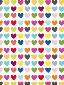 Free Hearts pattern paper. Would be a cute idea for above the baseboards in girl's room!