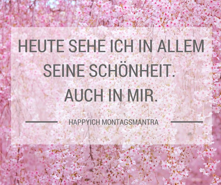 Montagsmantra #1 #affirmation #mantra #deutsch
