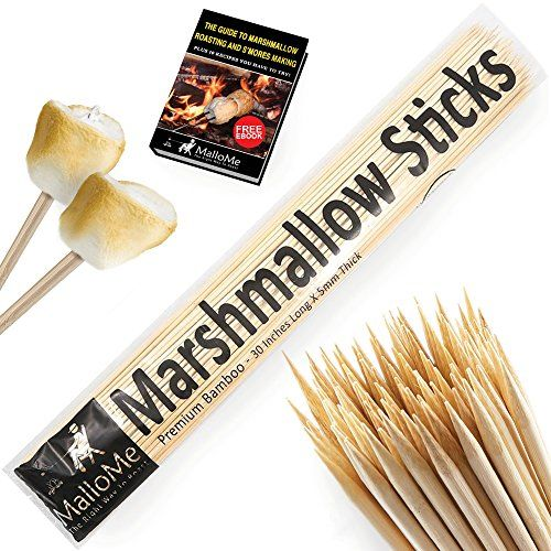 "MalloMe Bamboo Marshmallow Roasting Sticks 5mm Thick Extra Long Heavy Duty Wooden Hot Dog Smores Sticks Shish Kabob Skewers Fire Pit Campfire Cooking Kids, 30"" L, 100 Piece >> FIND OUT ADDITIONAL INFO @: http://www.best-outdoorgear.com/mallome-bamboo-marshmallow-roasting-sticks-5mm-thick-extra-long-heavy-duty-wooden-hot-dog-smores-sticks-shish-kabob-skewers-fire-pit-campfire-cooking-kids-30-l-100-piece/"
