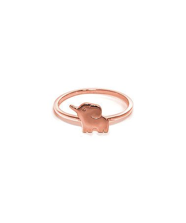 Love this Rose Gold Elephant Ring on #zulily! #zulilyfinds