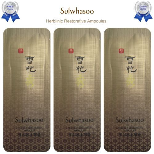 Sulwhasoo Herblinic Restorative Ampoules Skin New Korean Cosmetics Amore Pacific