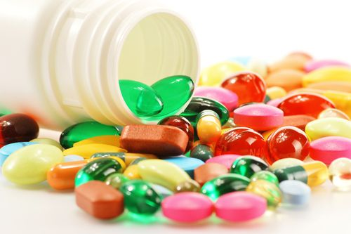 Made from vitamins and minerals, dietary supplements are sold over-the-counter in pharmacies.