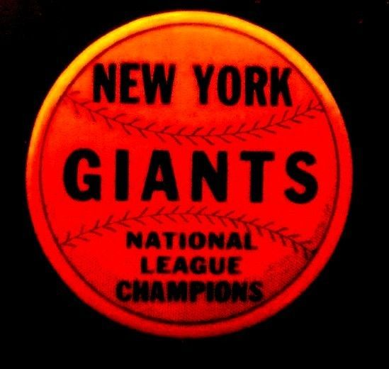 NEW YORK GIANTS Baseball -1951 National League Champions - NY GIANTS FANS Button