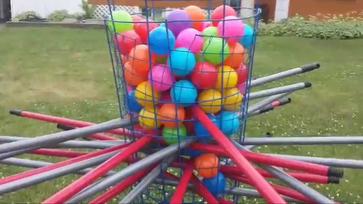 DIY Giant Outdoor Kerplunk Game | Being Creative with Lena ...