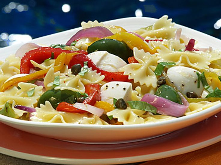 ... Salad with Roasted Peppers, Capers, Olives and Fresh Mozzarella Cheese