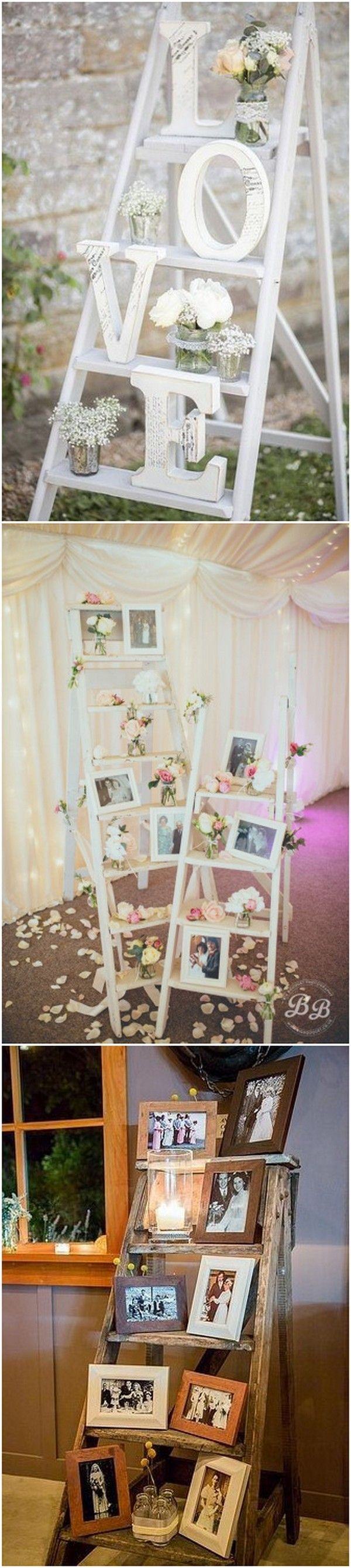 vintage decoration ideas with ladders