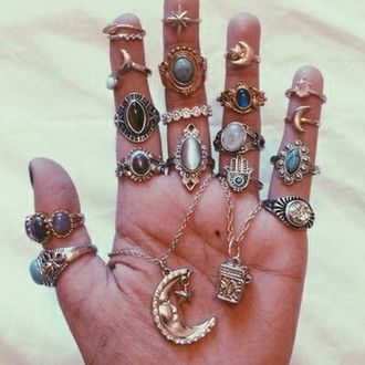 jewels ring moon hipster jewelry knuckle ring statement ring boho jewelry boho beautiful fashion bohemian cool tibetan jewelry boho chic necklace style rings and tings rings silver stars stone ring gold midi rings finger gold ring emerald green indie grunge gypsy hippie mystic crystal accessories grunge wishlist cute