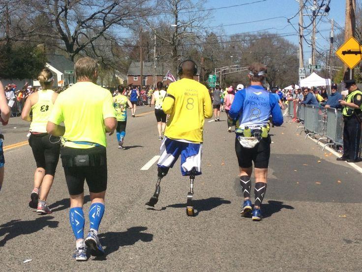 On artificial limbs… Boston marathon, Boylston, Marathon