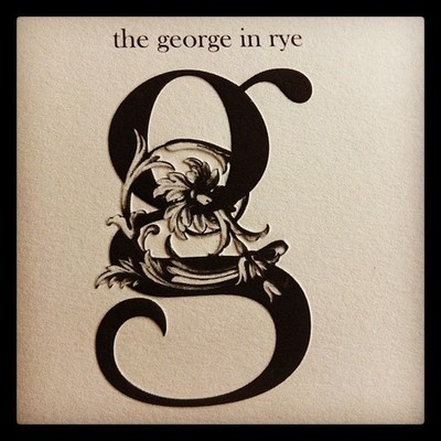 Nice embossed stationary of The George hotel in Rye, East Sussex.  (Taken with Instagram at The George Inn)