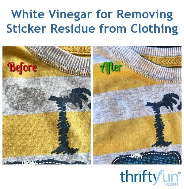 Have you ever run a t-shirt through the wash without removing a sticker that was stuck to it? It can be a real pain to remove the adhesive that is left behind, especially if it also goes through the dryer. Here is an easy way to remove that unsightly mess from your clothing!