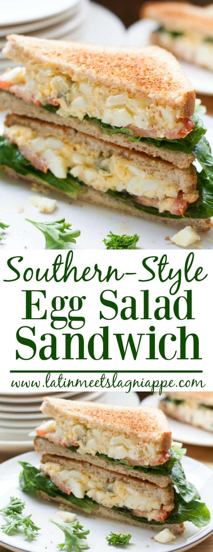 This tasty Southern-Style Egg Salad Sandwich is a perfect lunch!