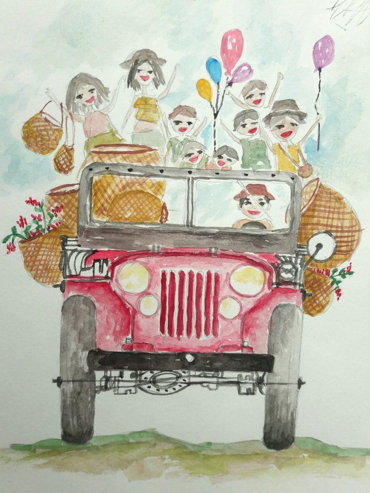 Ilustración acuarelas  Yipao