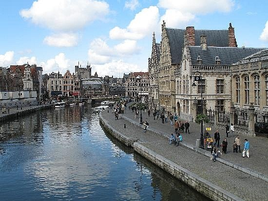 Brugge, Belgium. my professor says they have the best chocolate and the best beer in the world.