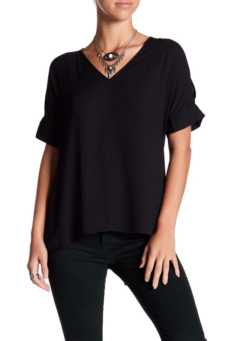 Cold Shoulder V-Neck Blouse  by DR2 by Daniel Rainn on @nordstrom_rack