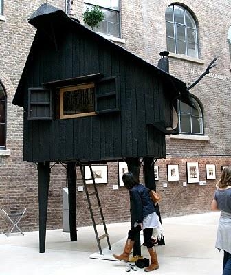 yakisugi stilt house. tiny house