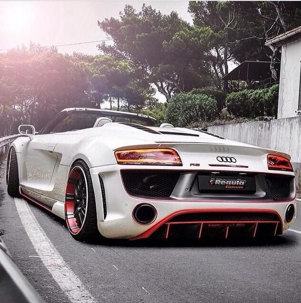 Audi R8 Spyder with Regala tuning body kit