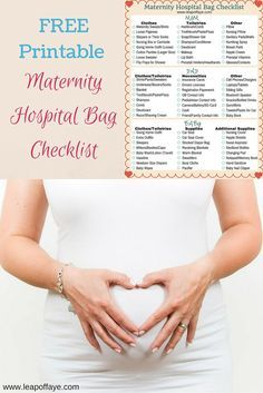 Find out the MUST HAVEs for your maternity hospital bag - including a free printable list!