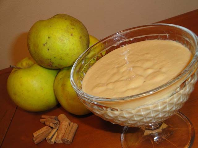 crema-budino di mele
