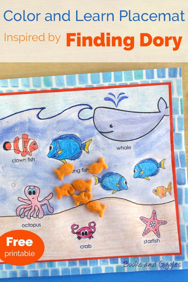 237 best images about free printables on pinterest for Finding dory crafts for preschoolers