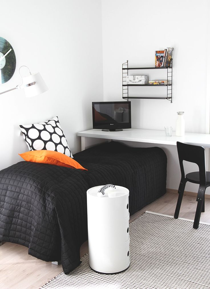 For Ethan's room. Moveable table that slides away to end of the bed come sleep time.