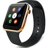 New Smartwatch A9 Bluetooth Smart Watch for Apple iPhone & Samsung Android Phone for male Golden Size:M