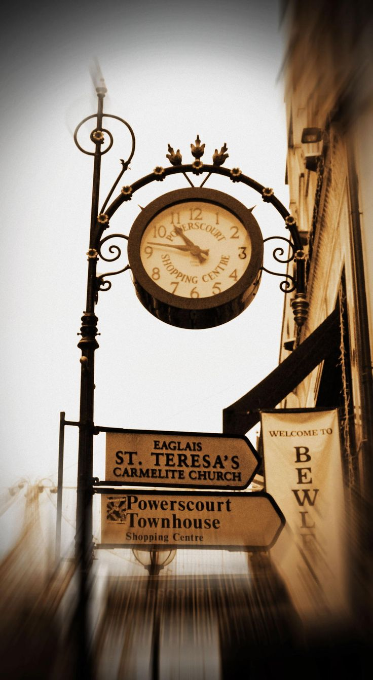 87 best wall clock images on pinterest abstract gift ideas and photograph grafton street dublin clock by laura gamudi on amipublicfo Images