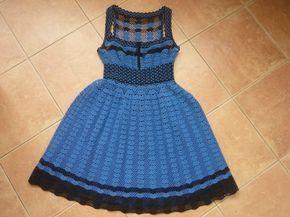 Hermoso vestido de gancho Autor Marina Pushenko. Discusión sobre LiveInternet - Servicio de Rusia diarios online