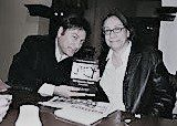 Jorge Hernandez of Tigres del Norte with author Diana Washington Valdez