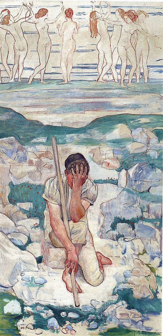 The Dream of the Shepherd (Der Traum des Hirten) Ferdinand Hodler (Swiss, Bern 1853–1918 Geneva)
