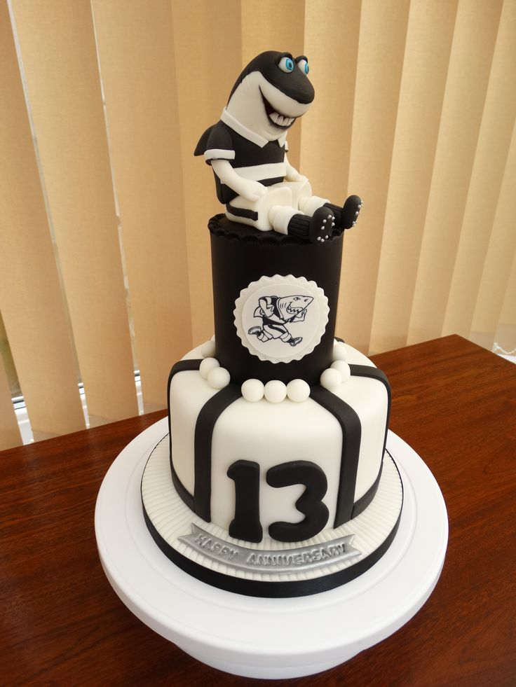 Natal Sharks Rugby Team Cake. Made this for my Husband for our Anniversary!! xMCx