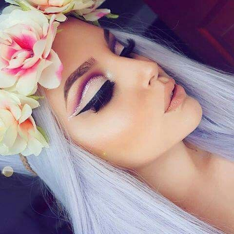 Imagine makeup, beauty, and flowers