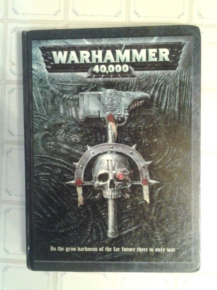 Warhammer 40K Rulebook by Games Workshop, Hardbound Free Shipping!