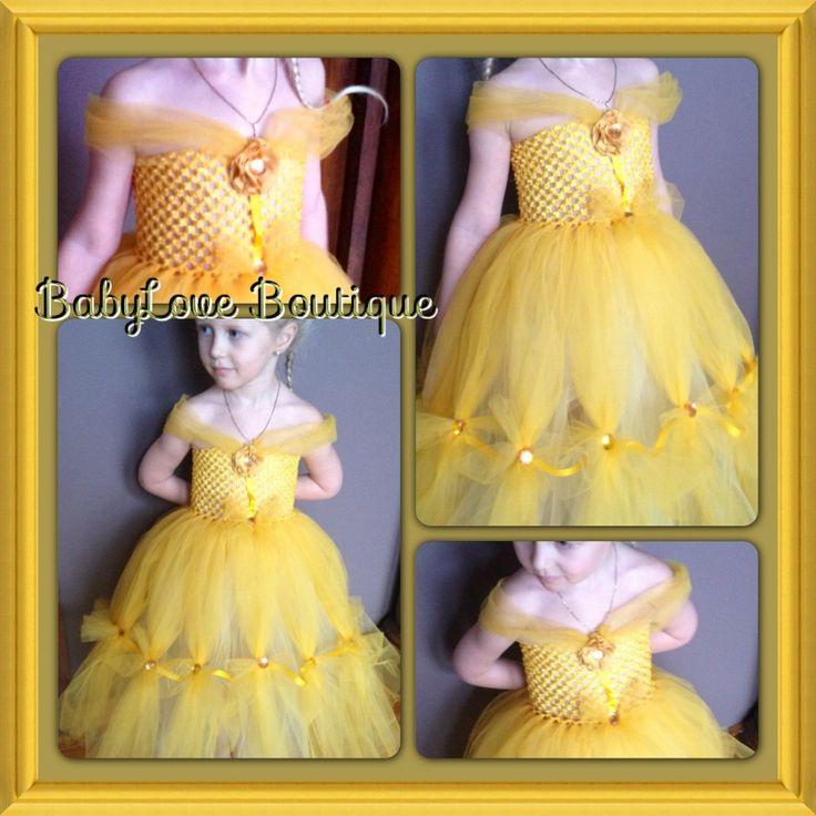 587 best little girl diy images on pinterest children costumes belle inspired princess tutu dress solutioingenieria Images