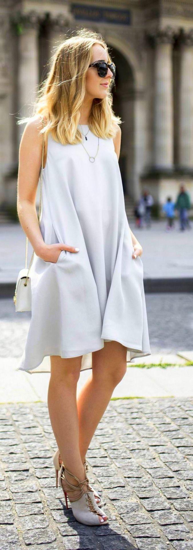 Asemmetrical Tent Dress w/pockets