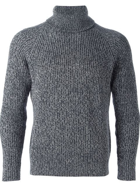 fitted marled sweater