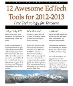 12 Awesome EdTech Tools for 2012-2013