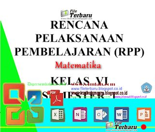 Download RPP Matematika SD KTSP Lengkap 2016