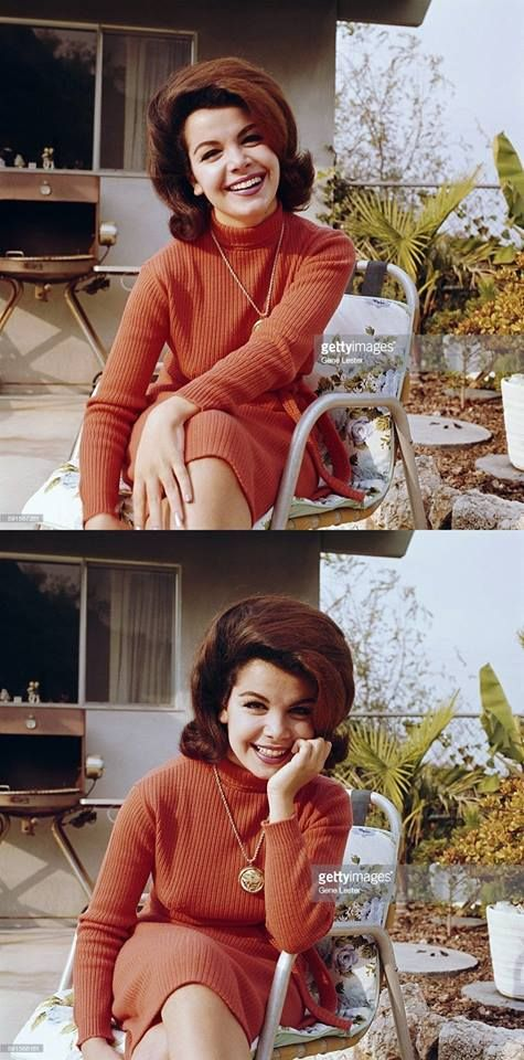 Annette Funicello at home photographed by Gene Lester, c.1962.